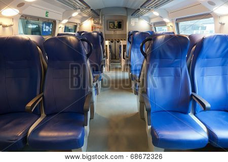 Interior of the long distance train