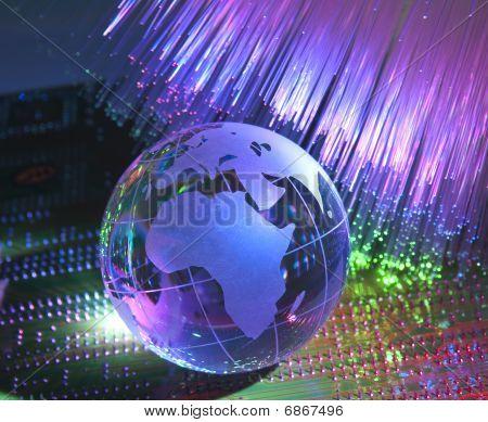 Globo de tierra de la tecnología de Internet