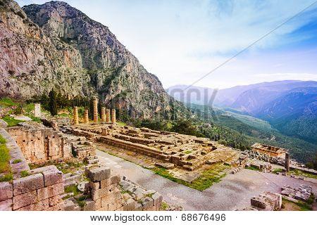 Ancient Apollo temple, Greece