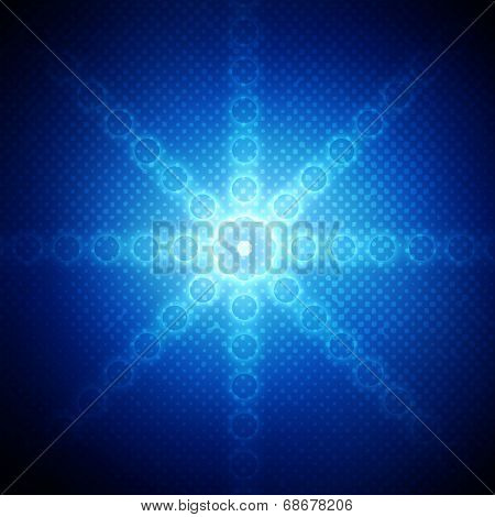 Abstract Circles On Blue Background