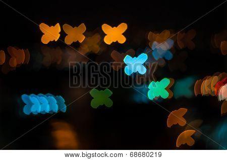 Butterfly bokeh shape