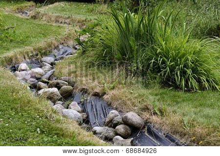 Artificial Pond Stream And Decorative Landscaped Garden
