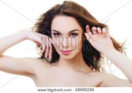 Portrait of beautiful woman with professional make-up