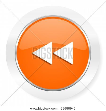 rewind orange computer icon