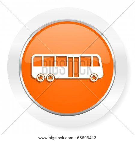 bus orange computer icon