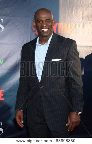 LOS ANGELES - JUL 17:  Deion Sanders at the CBS TCA July 2014 Party at the Pacific Design Center on July 17, 2014 in West Hollywood, CA