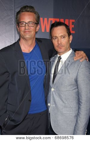 LOS ANGELES - JUL 17:  Matthew Perry, Thomas Lennon at the CBS TCA July 2014 Party at the Pacific Design Center on July 17, 2014 in West Hollywood, CA