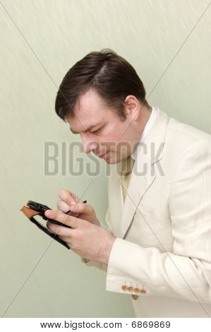 Man With Pocket Computer