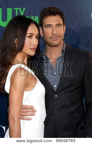 LOS ANGELES - JUL 17:  Maggie Q, Dylan McDermott at the CBS TCA July 2014 Party at the Pacific Design Center on July 17, 2014 in West Hollywood, CA