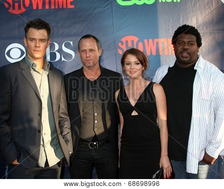 LOS ANGELES - JUL 17:  Josh Duhamel, Dean Winters, Aubrey Dollar, Edward Fordham Jr at the CBS TCA July 2014 Party at the Pacific Design Center on July 17, 2014 in West Hollywood, CA