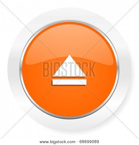 eject orange computer icon