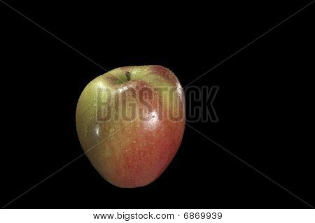 Braeburn Fruit with Water Droplets