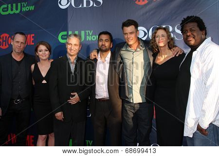 LOS ANGELES - JUL 17:  Dean Winters, Aubrey Dollar, David Shore, Kal Penn, Josh Duhamel, Janet McTeer, Edward Fordham Jr at the CBS TCA Party at thePDC on July 17, 2014 in W Hollywood, CA