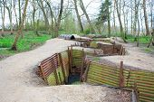 picture of world war one  - world war one trenches on hill in flanders fields Belgium - JPG