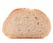 foto of hunk  - Hunk or slice of fresh white bread isolated on white background cutout - JPG