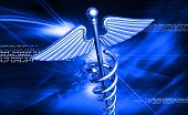stock photo of sceptre  - digital illustration of 3d medical icon on colored background - JPG
