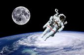 foto of typhoon  - Astronaut moon Earth space world background - JPG