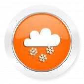 foto of barometer  - snowing orange computer icon - JPG