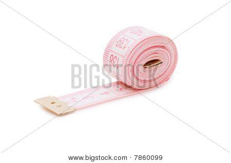Centimetric Tape  Isolated On White Background