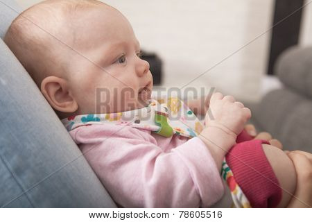 Profile Portrait Of A Baby