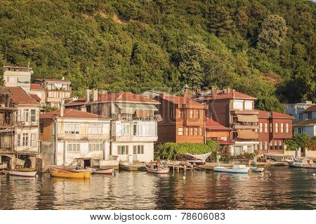 Small Fishermen Village At The Bosphorus Strait, Istanbul, Turkey