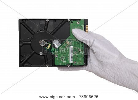 Hard Disc In Hand