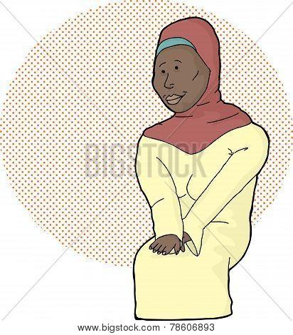 Pretty Muslim Lady