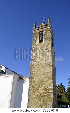 Church bell tower in Querenca, Portugal
