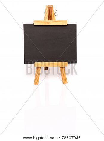 Empty blackboard with easel for your text