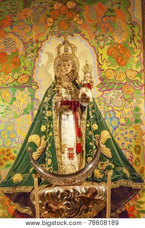 Mary Baby Jesus Crowns Statue Basilica Santa Iglesia Collegiata De San Isidro Madrid Spain