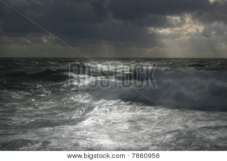 Storm on Black sea.