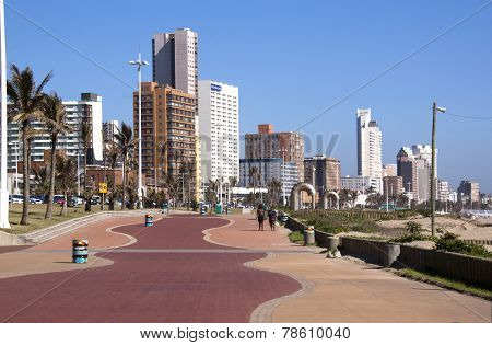 Addington Beach Promenade In Durban South Africa
