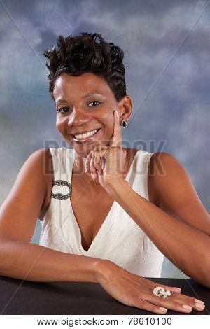 Black woman smiling