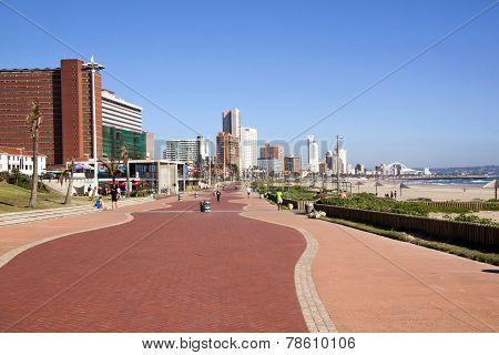 Promenade Along Addington Beach In Durban South Africa