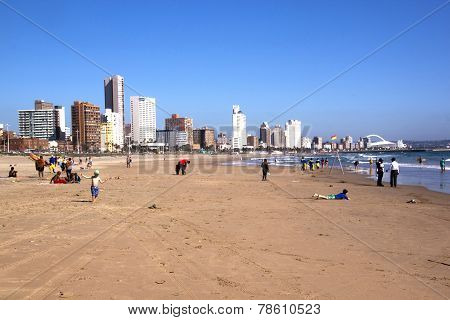 Early Morning On Beach In Durban, South Africa