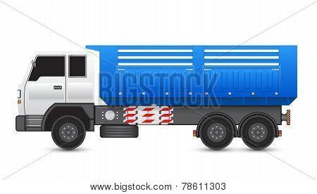 Illustration of tipper truck