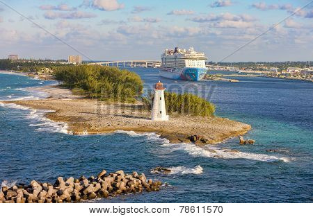 Scenic View Of Nassau, Bahamas.