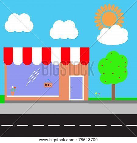 Shopping Center. Vector Illustration.