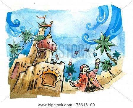 Theme Park Castle Summer Fun