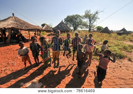 Children Of Mikuni Village, Zambia