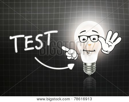 Test Bulb Lamp Energy Light Blackboard