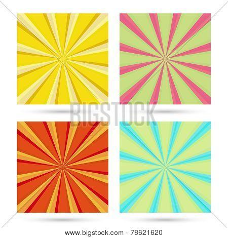 set of sunburst backgrounds.