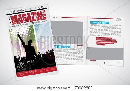 Magazine layout. Vector