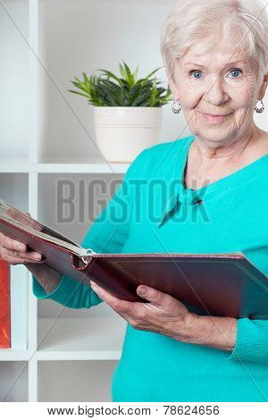 Lady With Photo Album