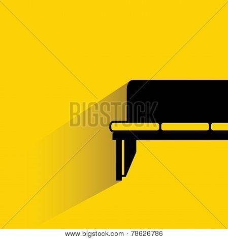 bench, sofa