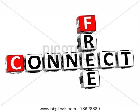 3D Crossword Connect Free On White Background