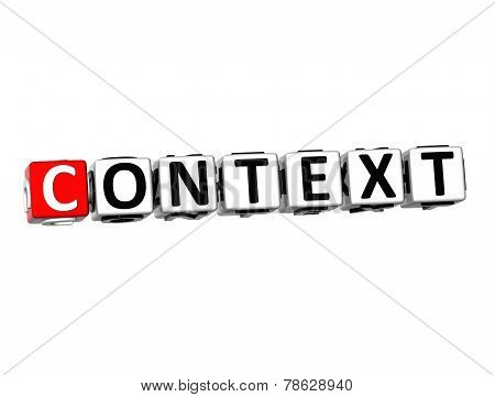 3D Word Context On White Background