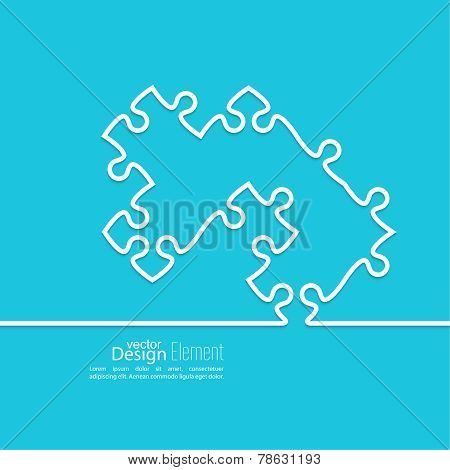 Vector abstract background from pieces of puzzle