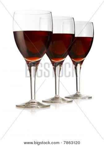 Three Glasses Red Wine