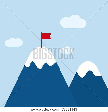 Vector abstract background with mountains